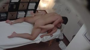Mature Blonde Breast in a Massage