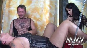 German Cougar Helps An Amateur Couple