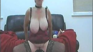 UK wife rides her toy (cont)
