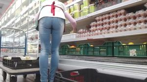 Hungarian shop worker mature perfect ass..