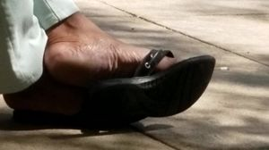 Candid mature ebony feet 2