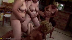 Insane private party with mature moms..