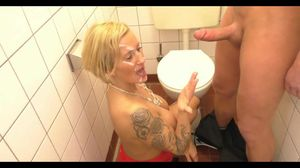 Busty Milf Oral In Public Toilet