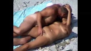 Mature Couple Beach Play.avi