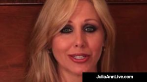 Busty Blonde Milf Julia Ann Smokes A Cig..